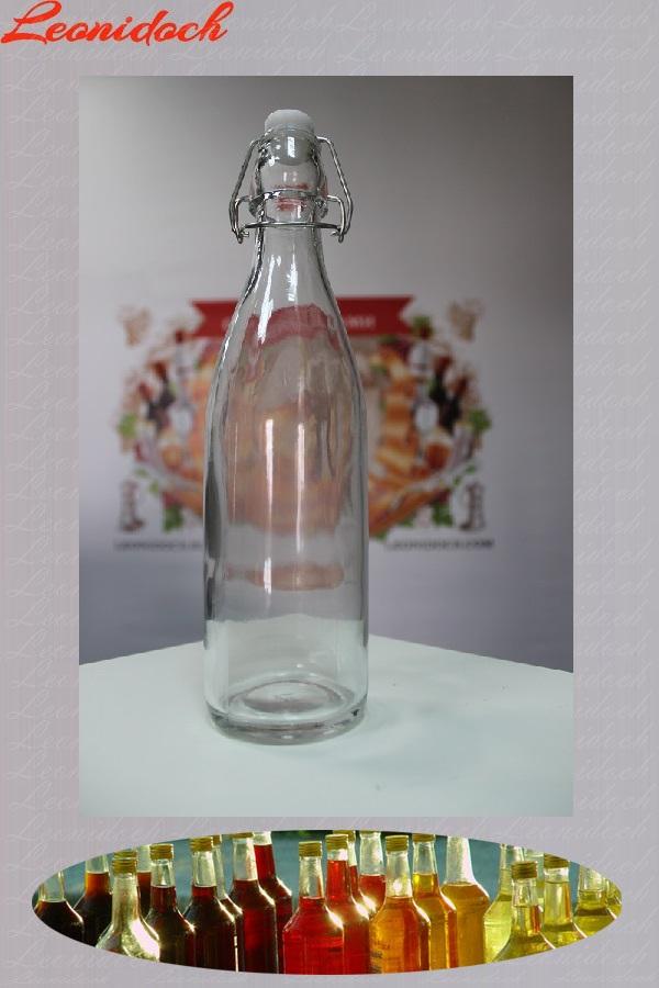 Бутылка стеклянная с бугельной крышкой 0,5 л