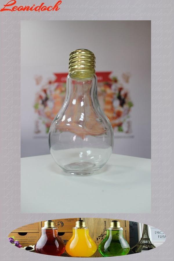 Бутылка стеклянная лампочка 0,4 л