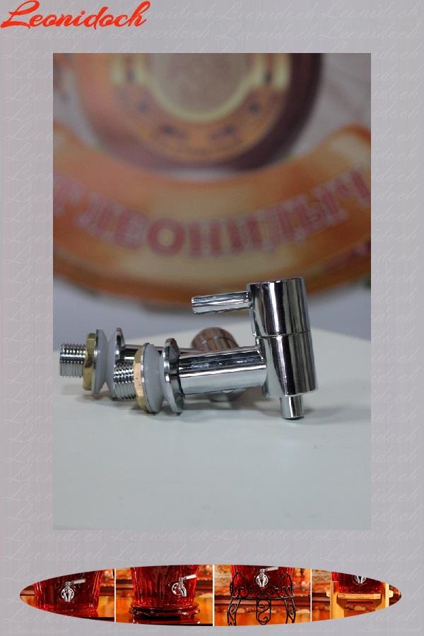 Кран медный Д/15 мм Серебро